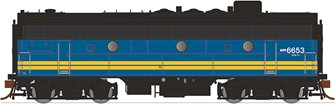 GMD F9B Locomotive - VIA Rail Canada #6652 (ex CP) - DCC Sound