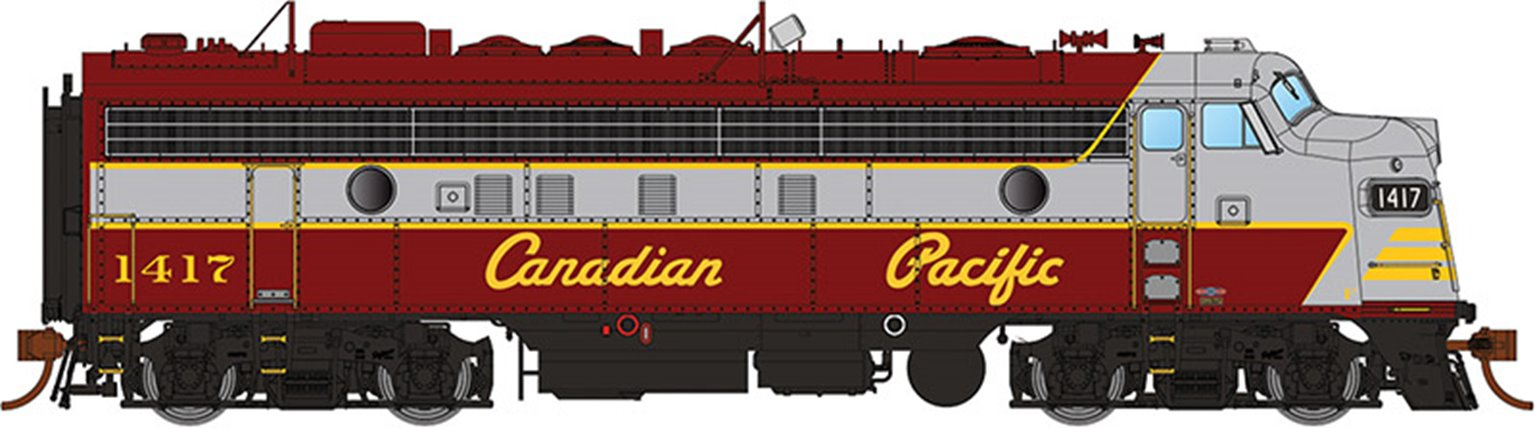 GMD FP7 Locomotive - Canadian Pacific (Script Lettering) #1417 - DCC Sound