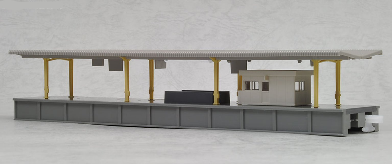 Kato 23-101 Island Platform with Waiting Room Type B