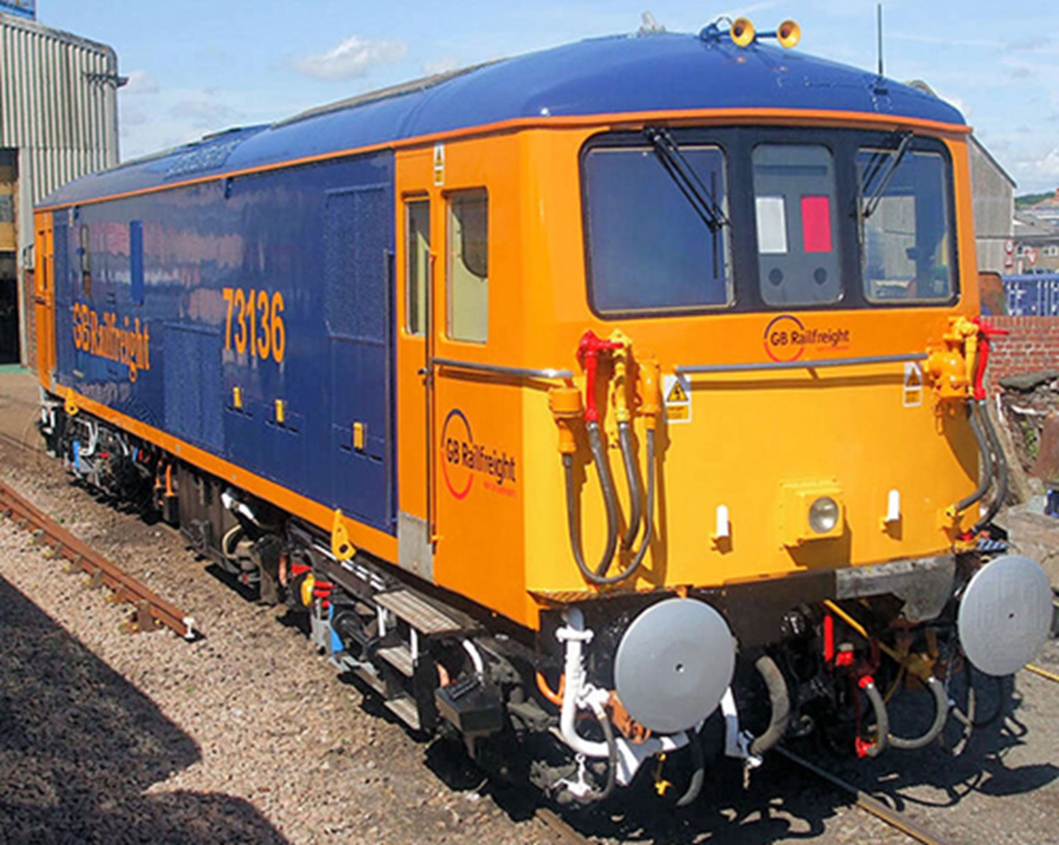 Class 73 136 GB Railfreight Blue/Orange Diesel Locomotive