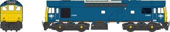 Class 25/3  D7667 BR Rail Blue with full yellow ensue (twin double arrows - 1000th loco built at Derby Works)