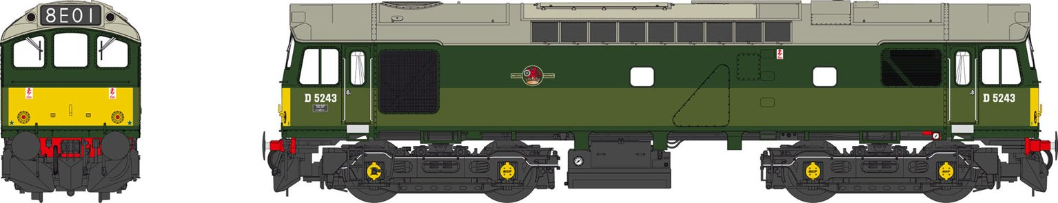 Class 25 BR two-tone green SYP D5243