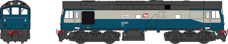 Class 25 BR Blue/Grey 97251 'ETHEL 2' (alternative livery)
