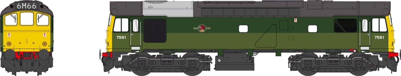 Class 25 BR two-tone green FYE 7561