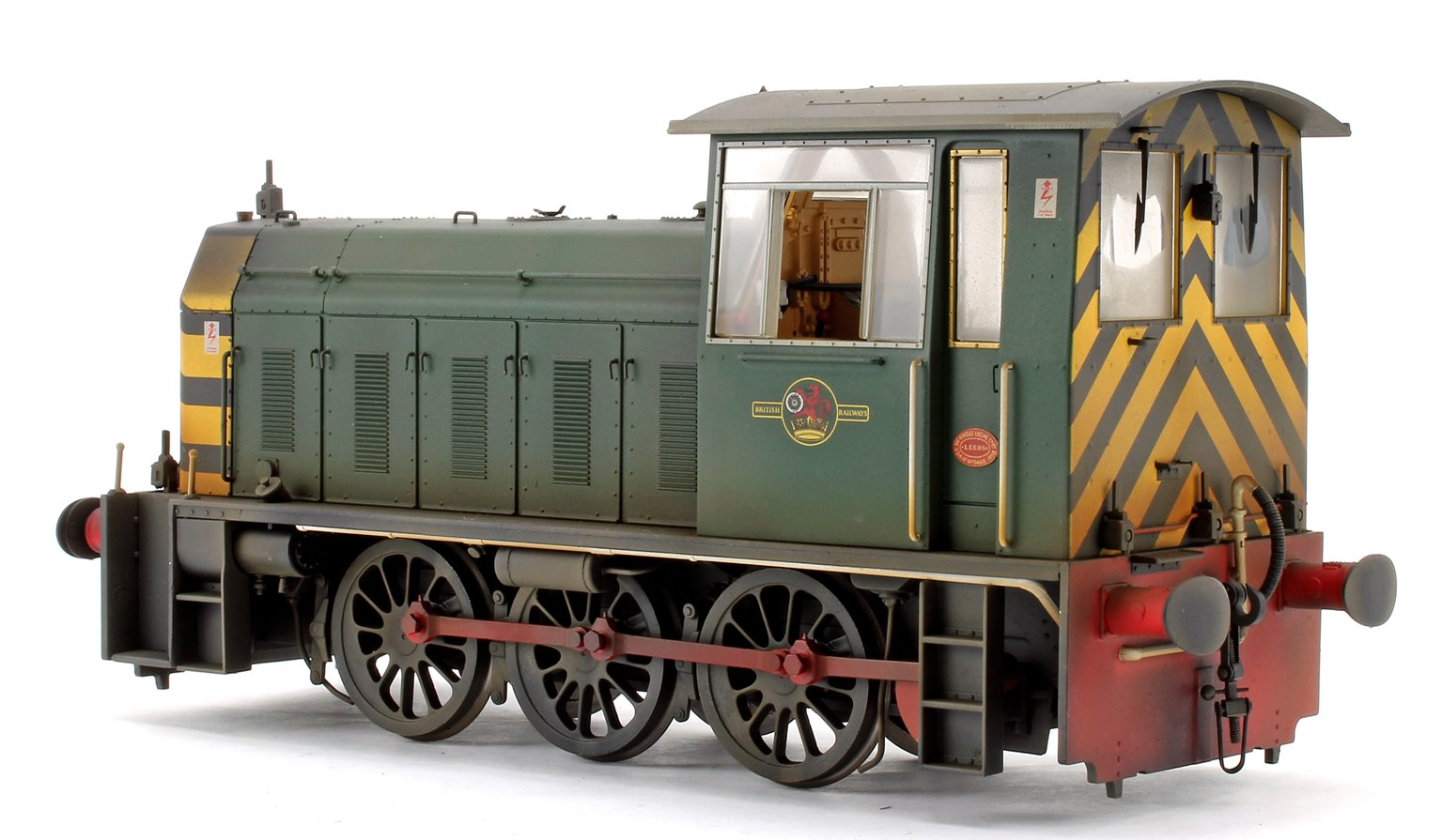 Custom Weathered Hunslet Class 05 BR Green with Wasp Stripes (Late) Shunter Locomotive