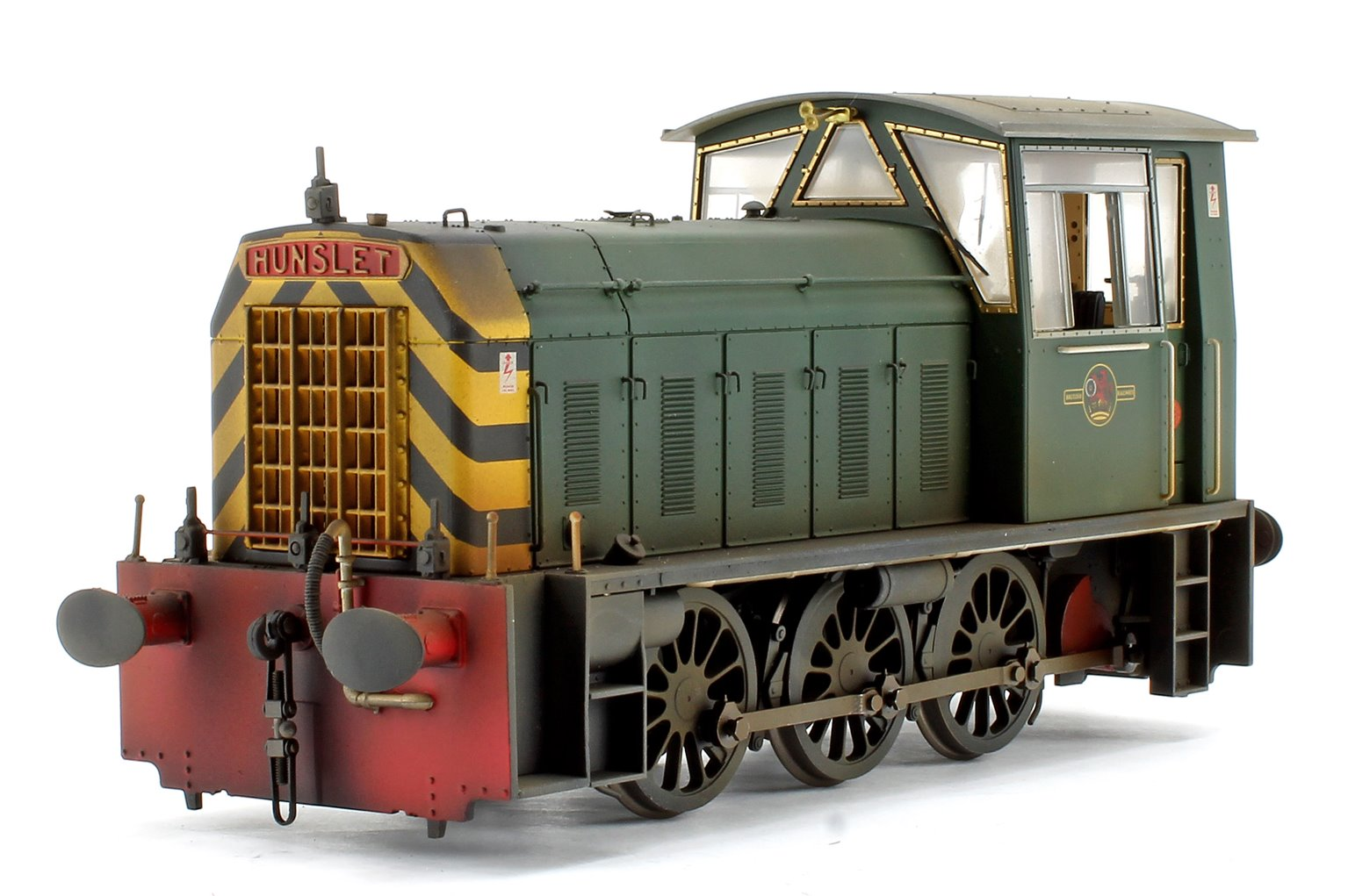 Custom Weathered Hunslet Class 05 BR Green with Wasp Stripes (Early) Shunter Locomotive