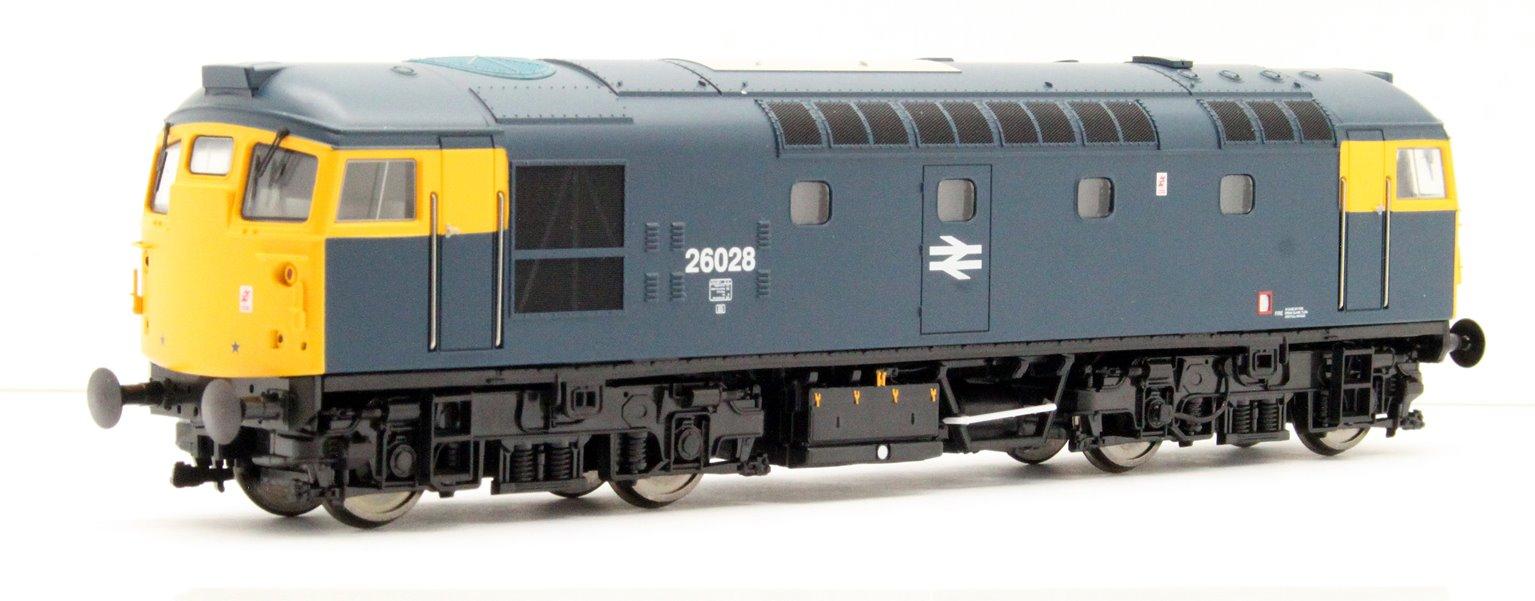Class 26 028 BR Blue with full yellow ends