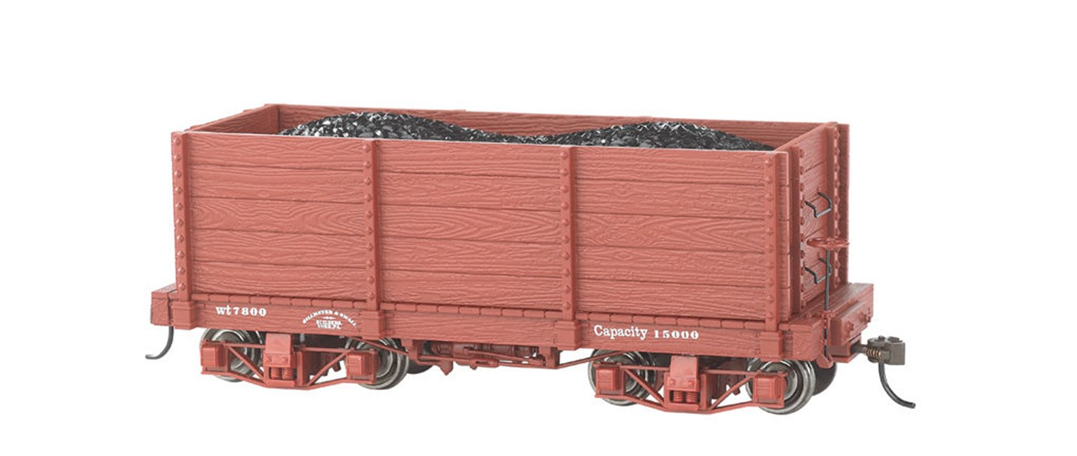 PACK OF 2 18' OXIDE RED HIGH SIDE GONDOLA WAGONS