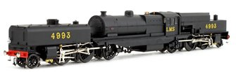 Beyer Garratt 2-6-0 0-6-2 4993 in LMS black with original coal bunker