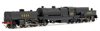 Beyer Garratt 2-6-0 0-6-2 4984 in LMS black with original coal bunker - lightly weathered
