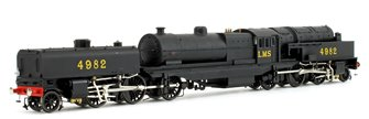Beyer Garratt 2-6-0 0-6-2 4982 in LMS black with revolving coal bunker design