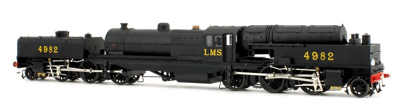 Beyer Garratt 2-6-0 0-6-2 4982 in LMS black with revolving coal bunker design