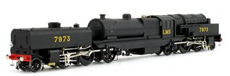 Beyer Garratt 2-6-0 0-6-2 7973 in LMS black with revolving coal bunker