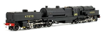 Beyer Garratt 2-6-0 0-6-2 47979 in BR black with LMS lettering and revolving coal bunker design
