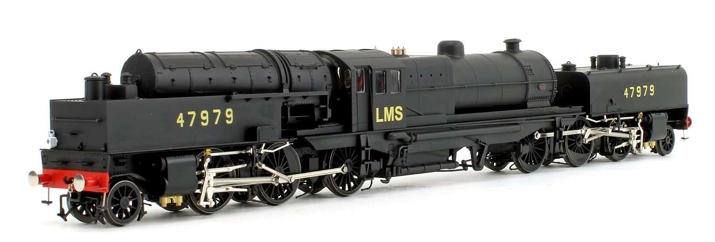 Beyer Garratt 2-6-0 0-6-2 47979 in BR black with LMS lettering and revolving coal bunker design