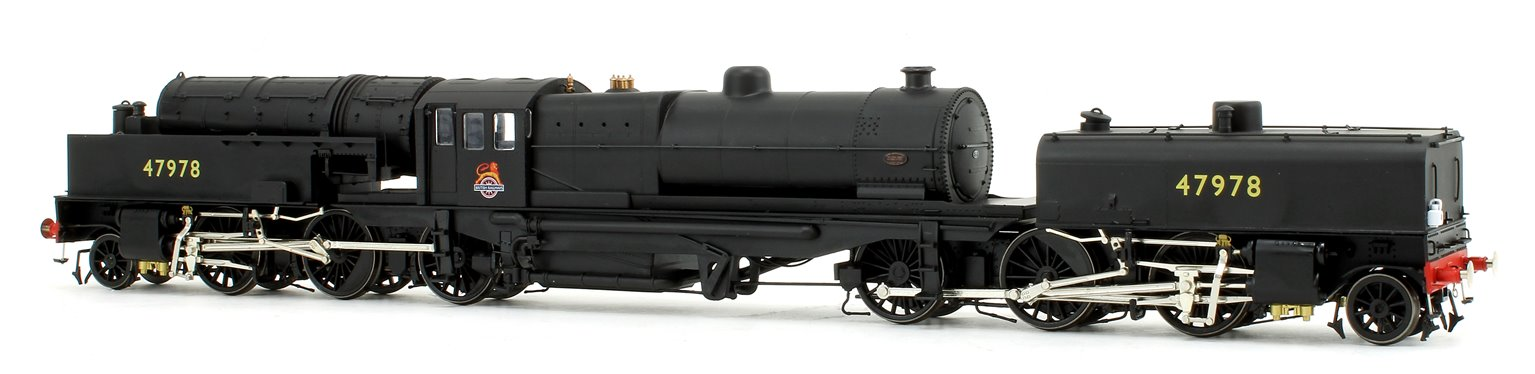 Beyer Garratt 2-6-0 0-6-2 47978 in BR black with early emblem and revolving coal bunker design