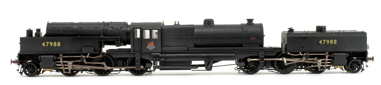 Beyer Garratt 2-6-0 0-6-2 47988 in BR black with early emblem and revolving coal bunker design - lightly weathered