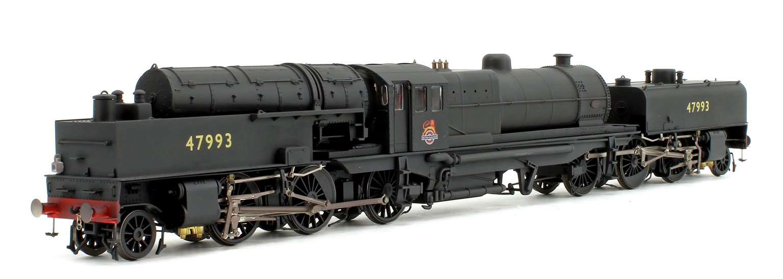 Beyer Garratt 2-6-0 0-6-2 47993 in BR black with early emblem and revolving coal bunker design - heavily weathered