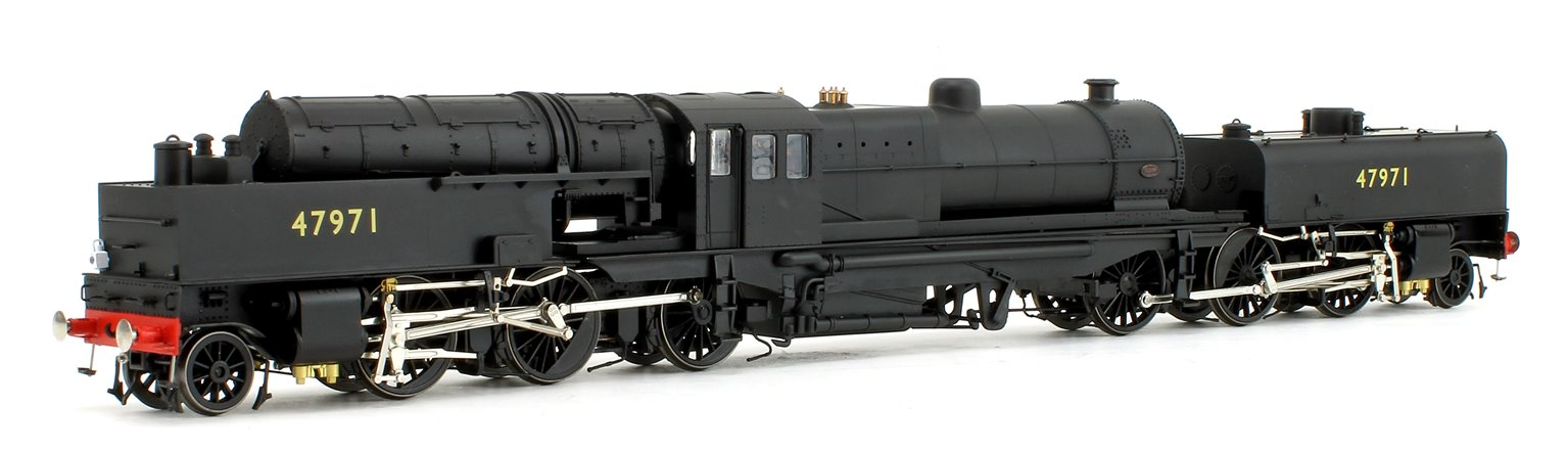 Beyer Garratt 2-6-0 0-6-2 47971 in BR black with no emblem and revolving coal bunker design