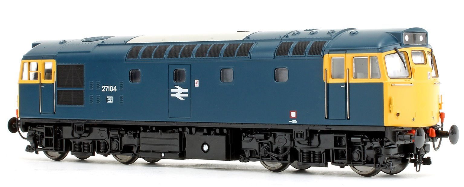 Class 27 104 BR Blue (Full Yellow Ends) Diesel Locomotive