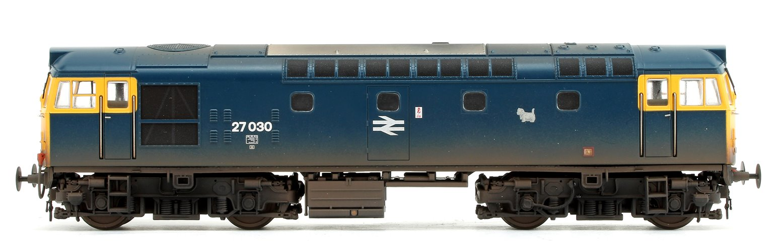 Class 27 030 BR Blue (Full Yellow Ends) Diesel Locomotive - Lightly Weathered