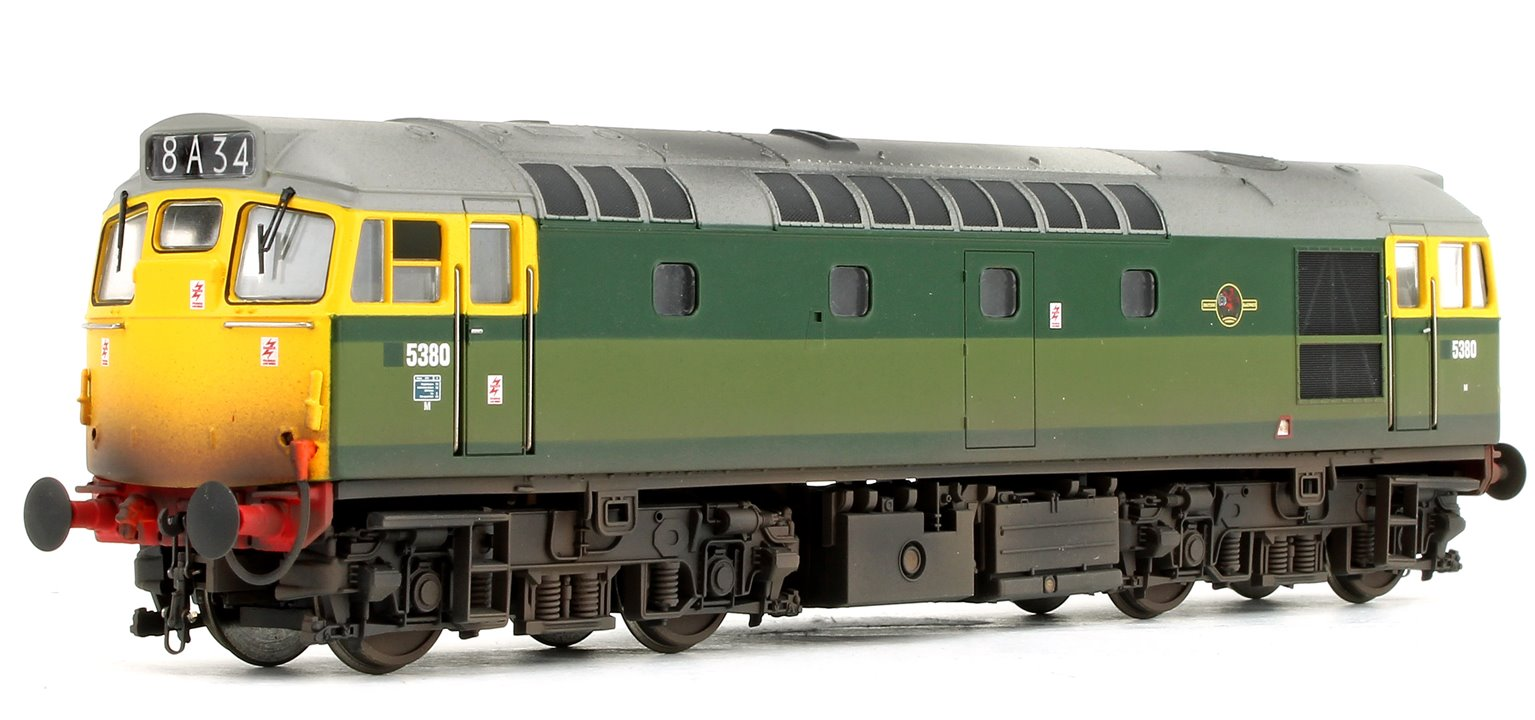 Class 27 - 5380 BR Two-Tone Green (Full Yellow Ends) Weathered Diesel Locomotive