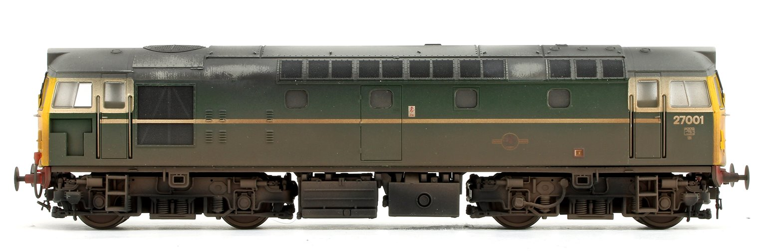 Class 27 001 BR Green (Full Yellow Ends) Heavily Weathered V3 Diesel Locomotive