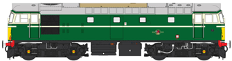 Class 27 BR Green unnumbered (small yellow panel)