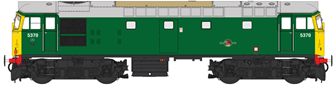 Class 27 BR plain green 5370 (full yellow ends) - Weathered