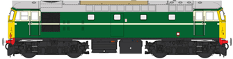Class 27 BR Green unnumbered (cream lining/full yellow ends)