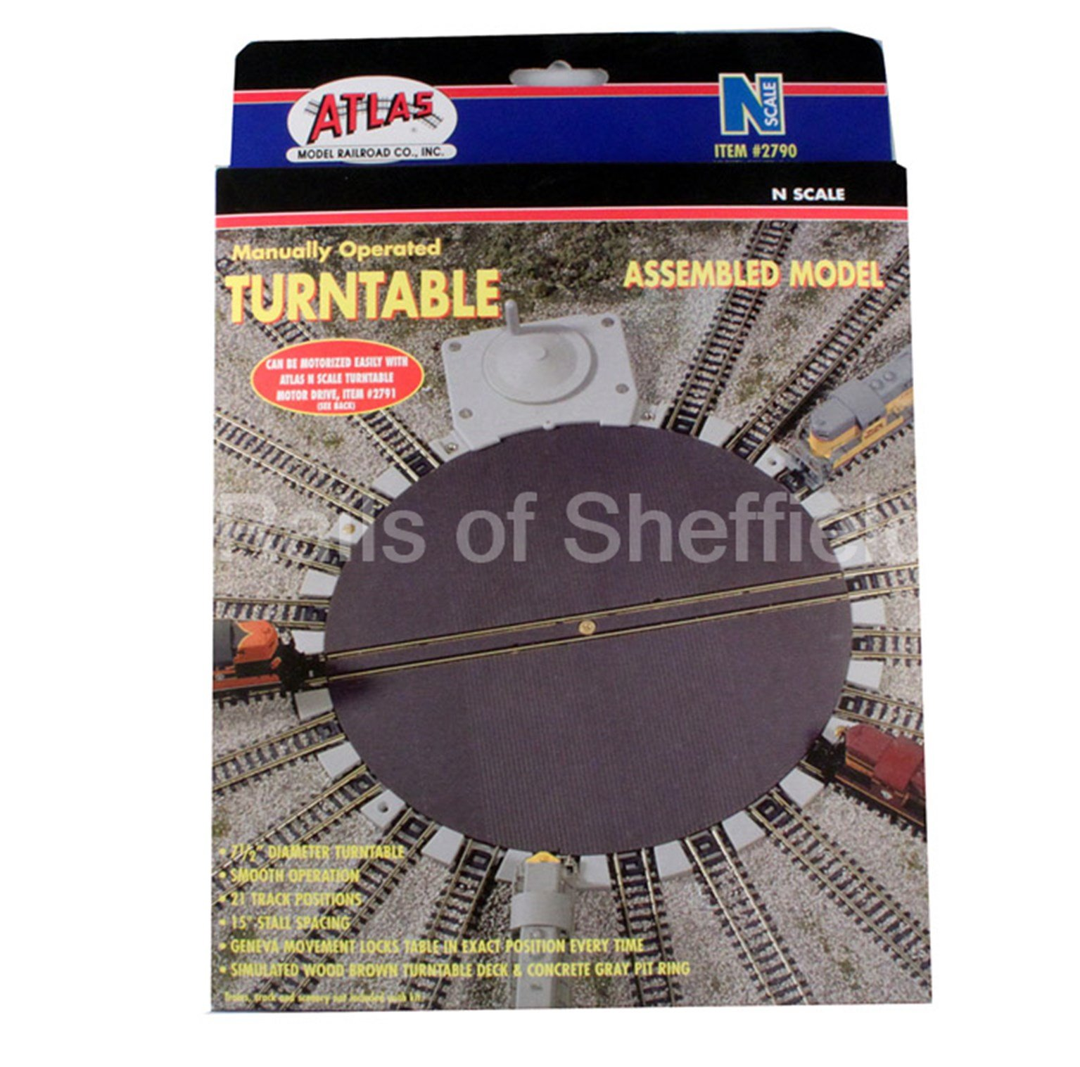 "Atlas 2790 N Gauge Manually Operated Turntable, 7.5"" diameter"