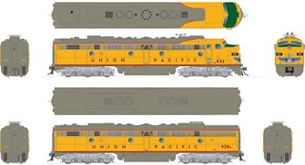 HO EMD E8A + E8B: Union Pacific: #938 + #938B