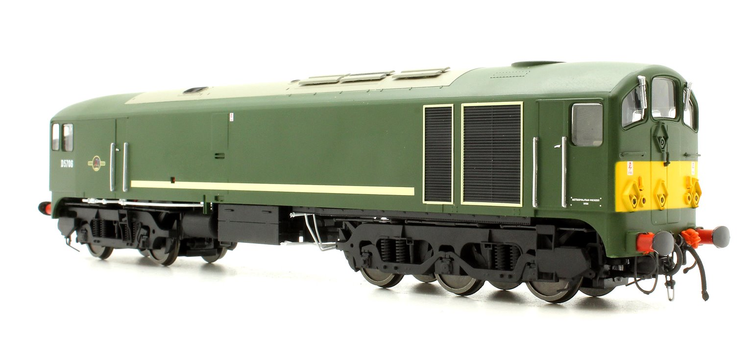 Class 28 'Metro-Vick' - D5706 BR Green with small yellow warning panels