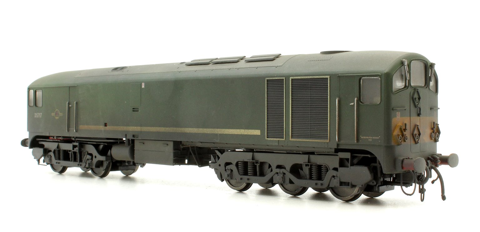 Class 28 'Metro-Vick' - D5717 BR Green with small yellow warning panels