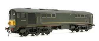 Class 28 'Metro-Vick' - D5709 BR Green with small yellow panels warning