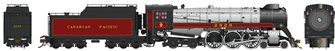 CP Class H1c 4-6-4 Royal Hudson Canadian Pacific #2829 with Oil Tender Commonwealth Trucks - DCC Sound