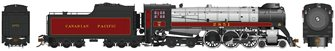 CP Class H1d 4-6-4 Royal Hudson Canadian Pacific #2851 with Oil Tender Commonwealth Trucks - DCC Sound
