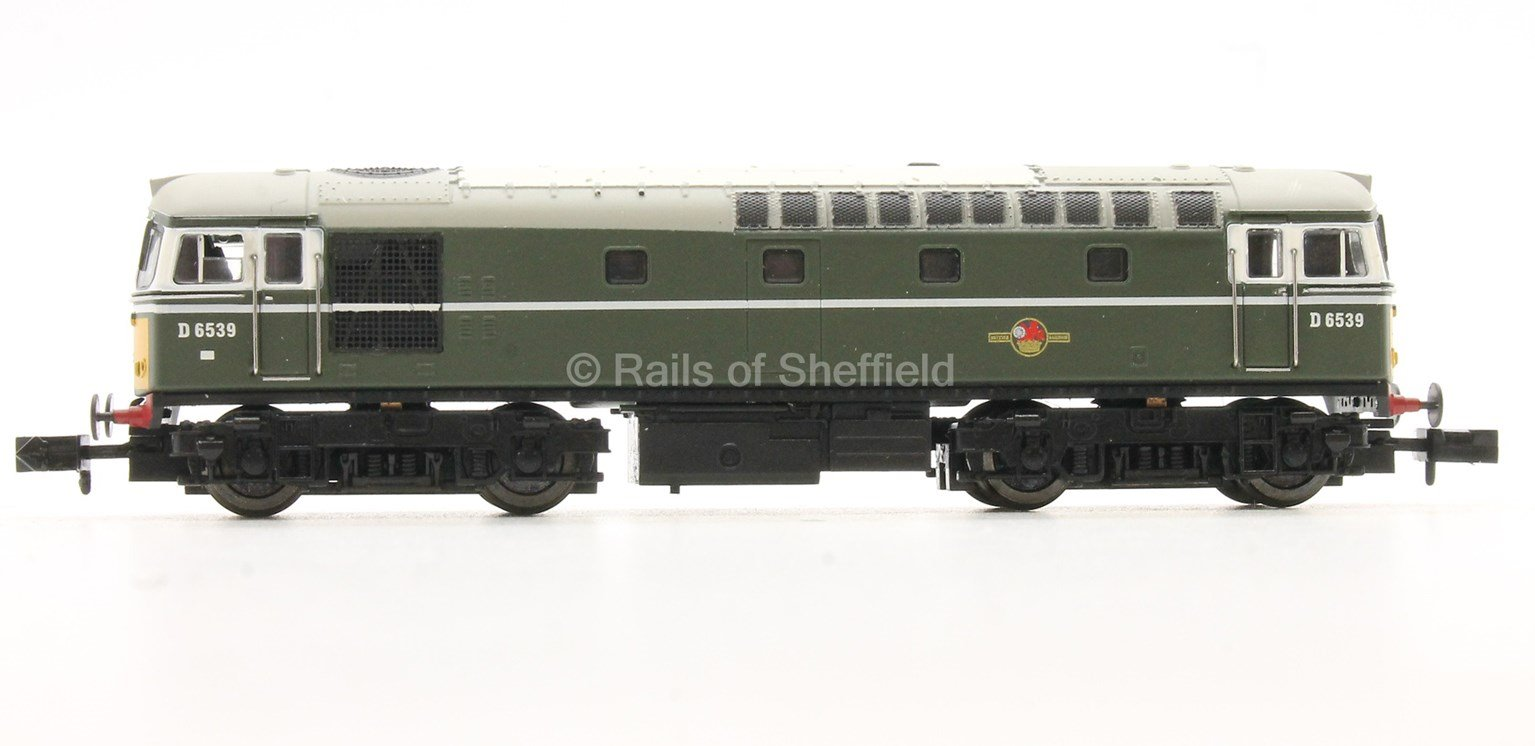 Class 33/0 #D6571 BR Green No Yellow Warning Panel - DCC Fitted