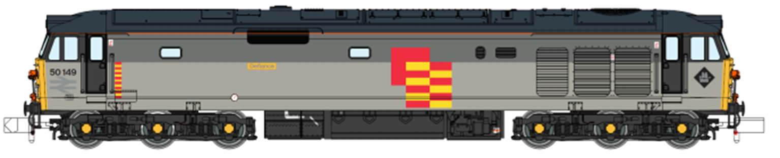Class 50 Defiance 50149 Railfreight Grey Refurbished DCC Fitted
