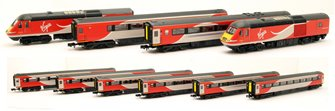 N Gauge Class 43 HST Virgin East Coast Bundle Set