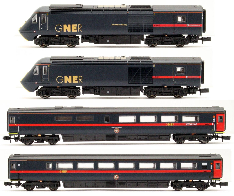 Class 43 HST GNER Blue 43106/109 4 Car Set