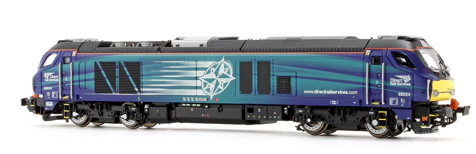 Class 68 034 DRS Compass Diesel Locomotive DCC Fitted