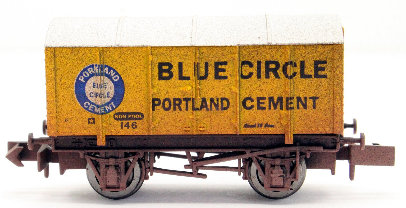 Gunpowder Van Blue Circle 146 Weathered