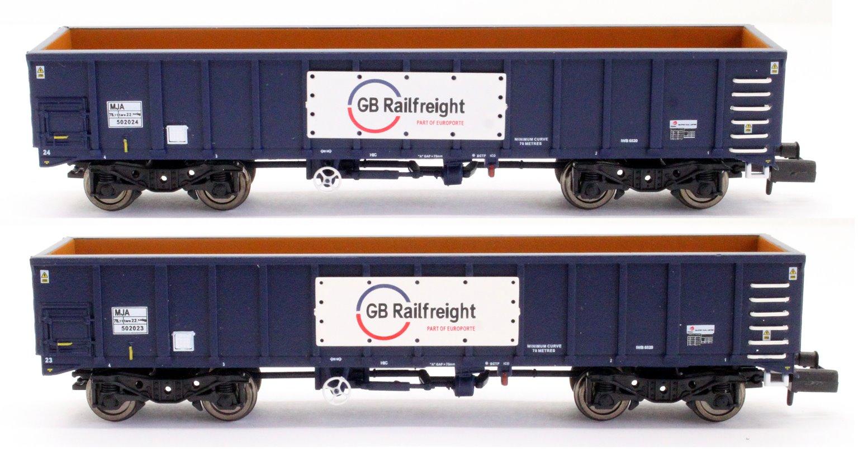 GBRf MJA Bogie Box Van Twin Set 502023 & 502024