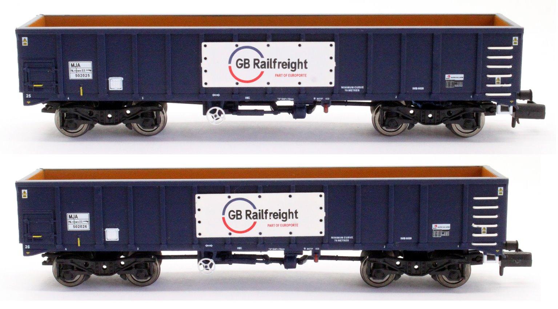 GBRf MJA Bogie Box Van Twin Set 502025 & 502026