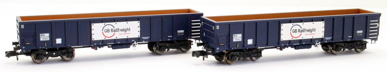 GBRf MJA Bogie Box Van Twin Set 502031 & 502032
