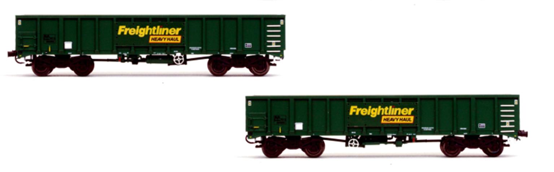MJA Freightliner Heavy Haul Bogie Box Van 502039 & 040