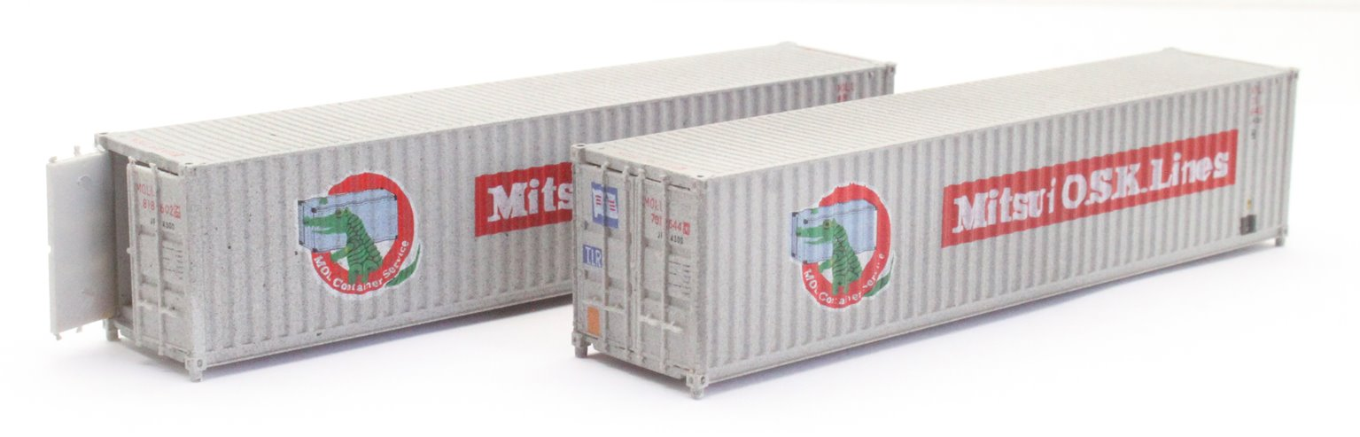 40ft Containers Mitsui Lines 8186026/7016440 Weathered