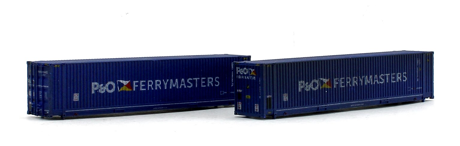 45ft Hi-Cube Containers P&O Ferry 0084602/0080377 - Weathered