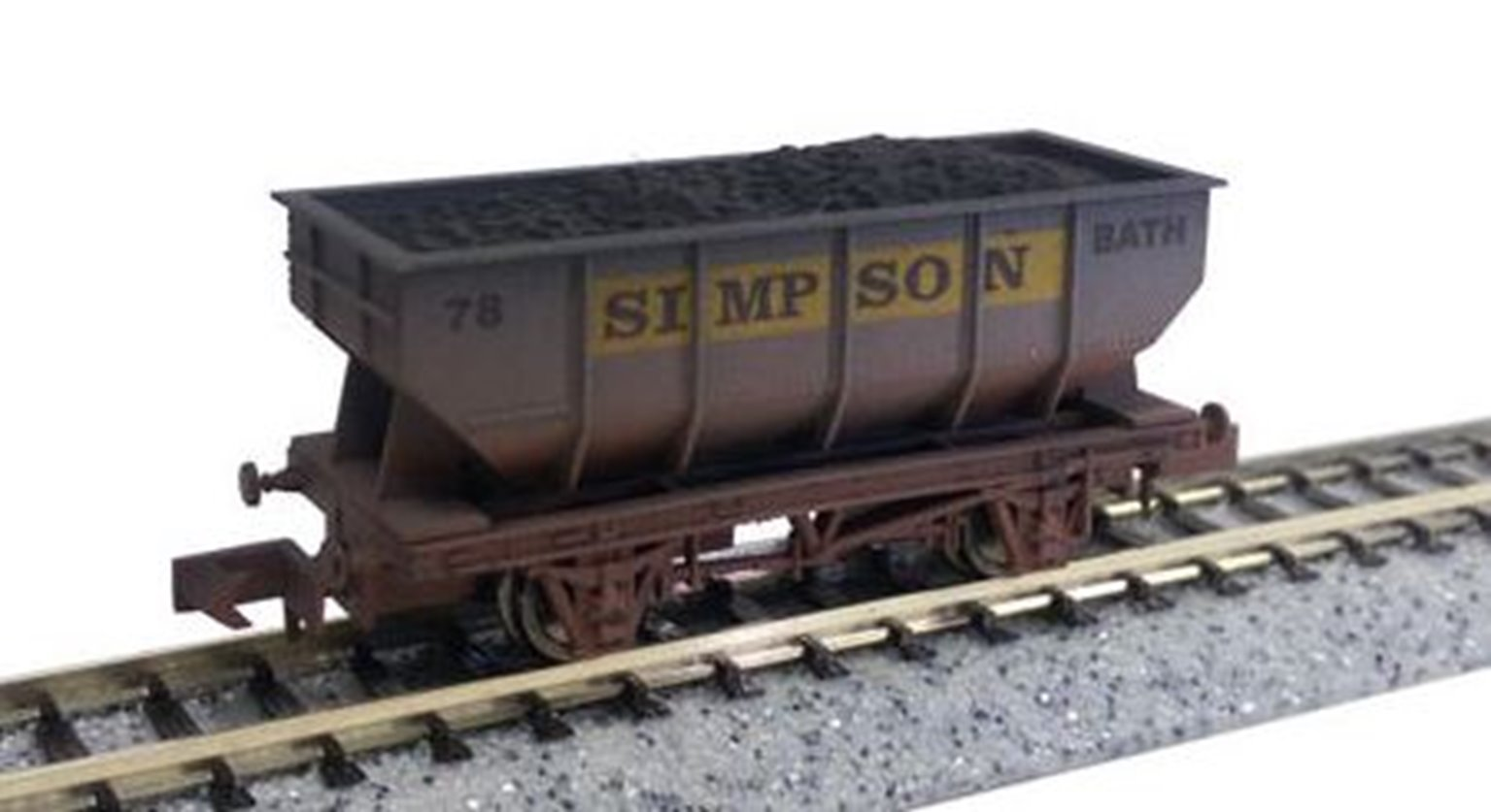 "Dapol 2F-034-034 21T Steel hopper wagon ""Simpson"" - 73 Weathered"